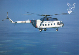 Hummingbird Airlines Helicopter , MALDIVES , 80-90s #2 - Maldives