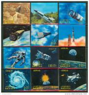 """1970 Bhutan Spazio Space Espace Three-dimensional """"Excellent Quality"""" - Raumfahrt"""