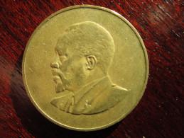 KENYA 1966 TEN CENTS   KENYATTA Nickel-Brass  USED COIN In GOOD CONDITION. - Kenya