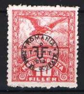 Hungary - DEBRECEN 1920. (Romania Occupation) Occupation Stamp 10f Stamp MNH (**) Animals / Birds - Birds