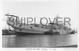 Cablier BAYARD En Feu Avec Navires Pompes OUED Et AIGUIERE - Carte Photo Marius Bar - Bateau/ship/schiff - Commerce