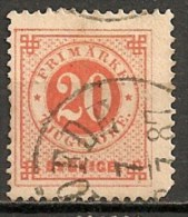 Timbres - Suède - 1877 - 20 Ore -