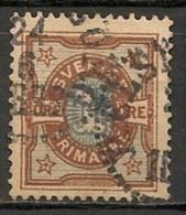 Timbres - Suède - 1891 - 1 Ore - - Oblitérés