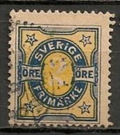 Timbres - Suède - 1891 - 2 Ore -