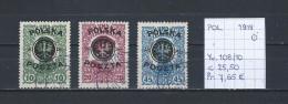 Polen 1919 - YT 108/10 Gest./obl./used - 1919-1939 Republic