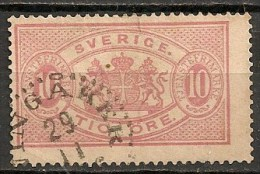 Timbres - Suède - 1881/95  - 10 Ore -
