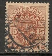 Timbres - Suède - 1910  - 15 Ore -