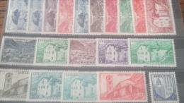 LOT 235151 TIMBRE DE ANDORRE NEUF* N�119 A 137 VALEUR 72 EUROS