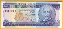BARBADES - Billet De 2 Dollars. (1980). Pick: 30. NEUF - Barbades