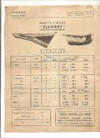 IVRY PARIS PHOEBUS USINES SABOTS D'AILES ALUMINIUM CITROEN PEUGEOT 402 JUVA 4  CAPOTS D'AVION TRANSA 9 BOUL SEBASTOPOL P