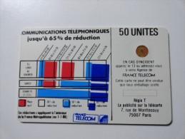 RARE : VARIÉTÉS : CORDONS BLANCS TELECARTE 50 U NR 9696 USED CARD - Variëteiten