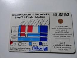 RARE : VARIÉTÉS : CORDONS BLANCS TELECARTE 50 U NR 9234 USED CARD - France