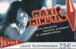 CARTE PREPAYEE-KERTEL-7.5€-MAXI MINUTE--TBE - Autres Prépayées