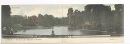 CPPanoramique Liège Le Lac Au Square D'Avroy Très Rare Ed. Colorisée - Liege