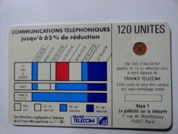 RARE : VARIÉTÉS : CORDONS BLANCS TELECARTE 120 U NR 8791 USED CARD - Variëteiten