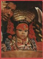 CARTOLINA NV NEPAL - KUMARI - Living Goddess - 10 X 15 - Nepal