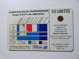 RARE : VARIÉTÉS : CORDONS BLEU TELECARTE 50 U NR 103332 USED CARD - Variëteiten