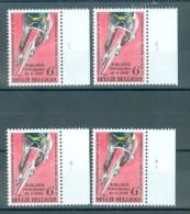 BELGIE - OBP Nr 1498 - Wielrennen - PLAATNUMMER 1/4 - MNH** - Numéros De Planches