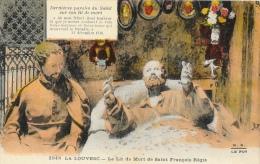 La Louvesc - Le Lit De Mort De Saint François Régis - Carte M.E. Colorée - La Louvesc