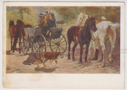 Horses In USSR Art   1958 - Pferde