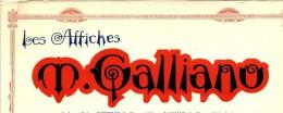 RARE ENTETE LES AFFICHES  M. GALLIANO ET DEPIERRE  PARIS PUBLICITE 1926 B.E. V.SCANS - 1900 – 1949