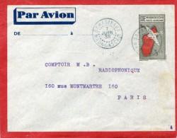 SAHASINAKA Madagascar CAD Bleu Sur Entier Postal Poste Aérienne 3 F 65 Pour Paris 7.6.1938   ...G - Airmail