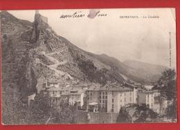 POG-02  Entrevaux  La Citadelle, Cachet Touet De Beuil 1906, Tache. - France