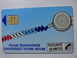RARE : VARIÉTÉS : CORDONS BLEU TELECARTE 50 U NR 106726 USED CARD - France
