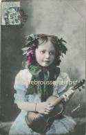 En 1905-fillette Tenue Champêtre Avec Son Violon-instrument De Musique - Portraits