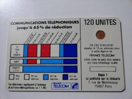 RARE : VARIÉTÉS : CORDONS BLANC TELECARTE 120 U NR 8810 USED CARD - Variëteiten