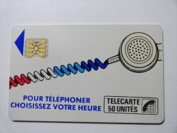 RARE : VARIÉTÉS : CORDONS BLANC TELECARTE 50 U NR 11364 USED CARD - France