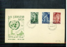 Jugoslawien / Yugoslavia / Yougoslavie 1953 UN Michel 714-716 FDC - 1945-1992 Socialist Federal Republic Of Yugoslavia
