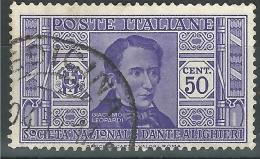 Regno D'Italia, 1932 - 50c Leopardi - Nr.308 Usato° - 1900-44 Vittorio Emanuele III