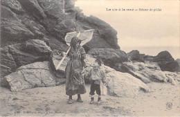 Métier-LA VIE à LA MER Retour De Pêche (Pêche Pêcheurs Animation- Haveneau - Enfant ) DUGAS  N°45*PRIX FIXE. - Pêche