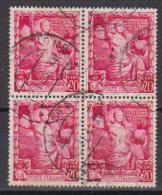 REGNO D'ITALIA   1938  QUARTINA  PROCLAMAZIONE DELL'IMPERO    SASS. 440   USATO     VF - Usati