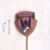 Badge / Pin ZN001007 - Weightlifting (Dizanje Utega) Donavski Pokal Ljubljana Yugoslavia Slovenia 1964 - Weightlifting