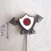 Badge / Pin ZN001009 - Japan Weightlifting Association - Weightlifting
