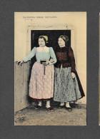 HUNGARY, 1900-1910s - HONGRIE - Two Ladies Wearing Traditional Costumes, Egerfarmos Kozseg Nepviselete, - Hongrie