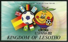 "Lesotho       ""1982 World Cup Soccer""     Booklet Pane   (2 Sheets Of 12 & Souv. Sheet)    SC# 363-64  MNH** - Lesotho (1966-...)"