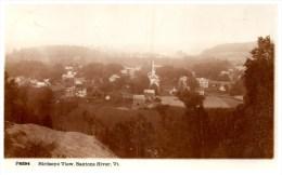 21211 VT Saxton´s River 1920 Birds Eye View  RPPC - United States