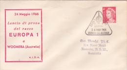 Australia 1966 Test Europa 1 Rocket F.4 Souvenir Cover - Australia