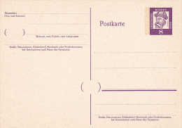 Germany Mint Postal Card 8pf Gutenberg - Postcards - Mint