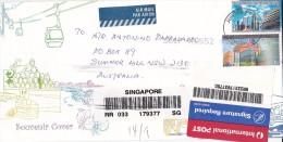 Singapore 2004 Registered Cover To Australia - Singapore (1959-...)