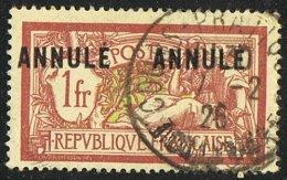 MERSON 1 Franc  «ANNULÉ   ANNULÉ»  YV 121-CI 2   Oblitéré  Toulouse