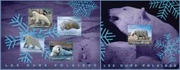 ca14516ab Central African 2014 Polar Bear 2 s/s