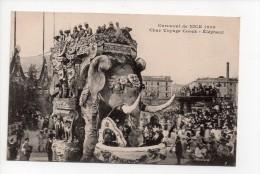 CARNAVAL DE NICE  1909 - Char Voyage Coock - Elephant -  (3) - Carnival