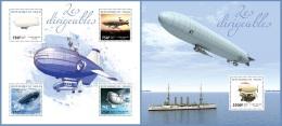 nig14316ab Niger 2014 Dirigibles Zeppelin 2 s/s