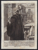 Image Pieuse - Holy Card - Incisione - Gravure - SAN ELIGIO VESCOVO -  (AUGSBURG  1674) - Devotieprenten