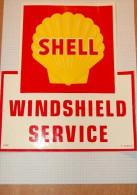 Vintage 70's SHELL Motor Oil Moteur Huile  Service Decal Sticker - Autocollants
