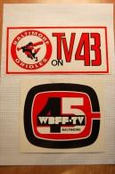 Vintage 70's Baltimore TV Decals Stickers - Autocollants